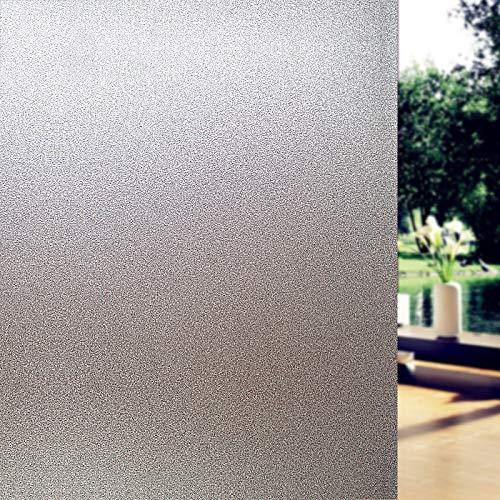JXWANG Milchglas Aufkleber Fensterfolie Privatsphäre Für Büro Badezimmer Schlafzimmer Shop Static Cling DIY Dekorfolie Kein Kleber,A-45x100cm