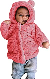 Kehen- Toddler Hoodie Sweater Jacket Infant Baby Winter Warm Sherpa Coat Autumn Fleece Snowsuit Thicken Overcoat