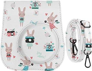 katia Funda protectora con bolsillo para accesorios y correa ajustable para Fujifilm Instax Mini 9 8 8+ cámara de película instantánea conejo lindo
