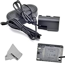 Fomito ACK-E6 AC Power Adapter + DR-E6 DC Coupler LPE6 Dummy Battery Kit for Canon EOS 5D2 5D3 6D 60D 7D 5D Mark II III Digital Cameras(Canon LP-E6 Battery Replacement)