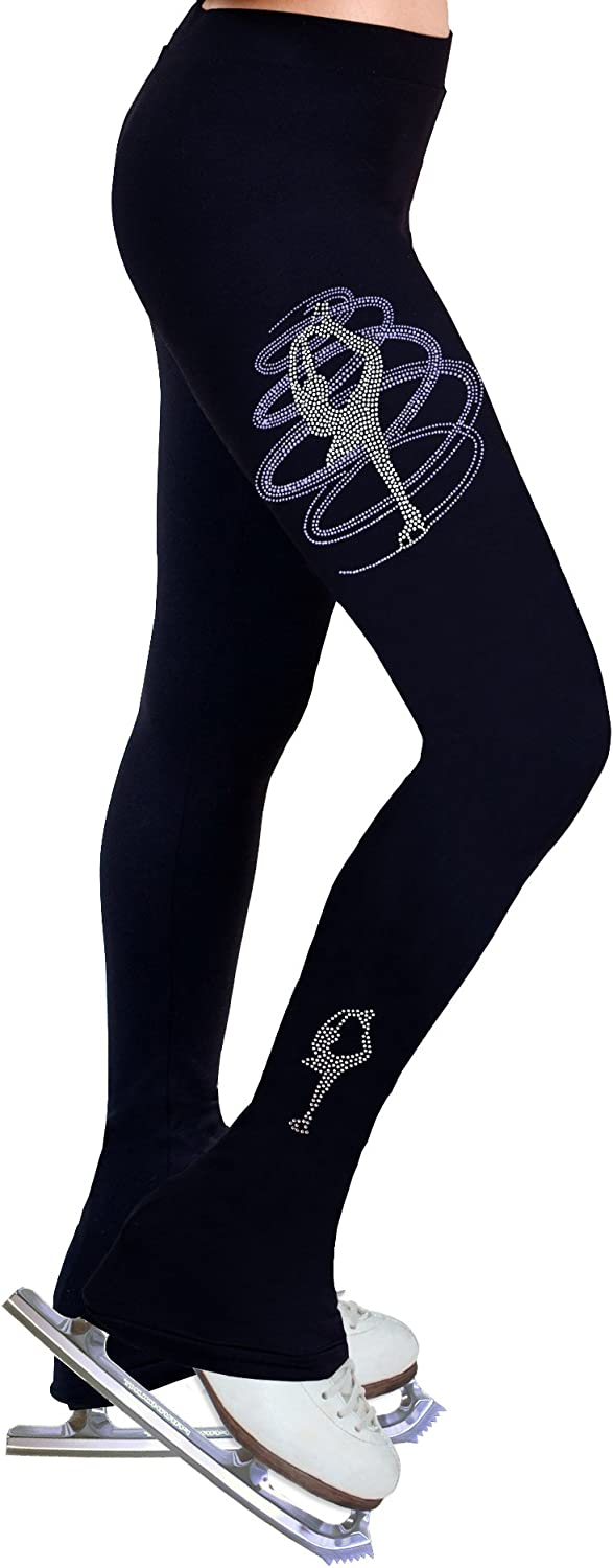 NY2 SPORTSWEAR Figure Cheap super special price Our shop most popular Skating Practice Pants Rhinestones R2 with