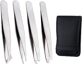CROSYO 4pcs Anti-Statique Outils en Acier Inoxydable Brucelles Maintenance Industrielle de précision pincettes Droite Outi...