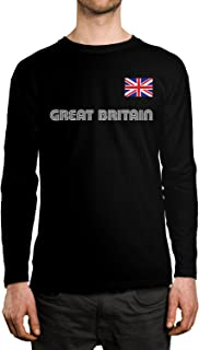 Great Britain Soccer Jersey Men's Long Sleeve Shirt