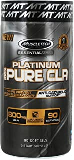 Muscletech Essential Series Platinum Pure CLA 800 mg 90 Soft Gel Caps