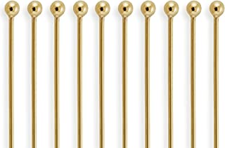 50 Pieces 14Kt Gold Filled Ball End Head Pins 26 Gauge 2 inch