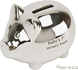 Bambino Baby Christening Gifts. Silver plated Piggy Money Bank