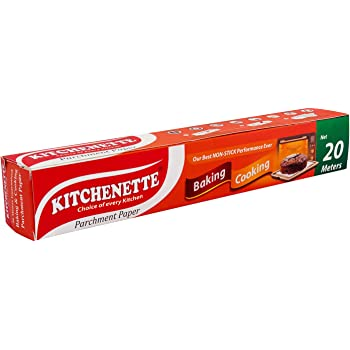 Kitchenette Baking and Cooking || Parchment Paper || Food Grade || Non Stick || Fat Free Cooking || 20 Meters X 11 inch