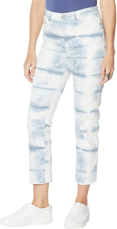 DG2 by Diane Gilman Women's Petite Tie Dye Straight Cropped Jeans. 726360-Petite