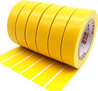 Electrical Insulation Tape, Maveek PVC Vinyl Electrical Tapes with Rubber Based Adhesive, UL Listed, Heat Resistant, Flame Retardant, Waterproof(6 Rolls,Yellow)