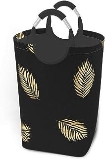N\A Motif Noir avec des Branches d'or Paniers de Rangement Panier à Linge Sale Flexible Sac Organisateur écologique Sac de...