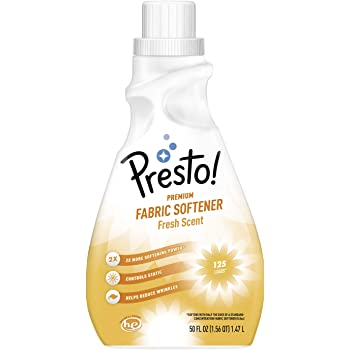 Amazon Brand - Presto! Concentrated Fabric Softener, Fresh Scent, 125 Loads, 50 fl oz