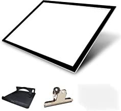 Huion Thin Light PAD 5mm LED Drawing Copy Tracing Stencil Board Table Tattoo Pad with Holder, Drawing Board Clip and 6 Pie...