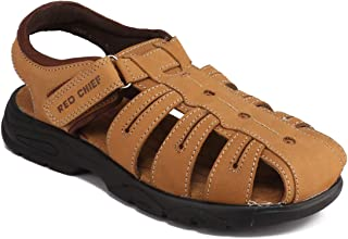 Red Chief Leather Sandal for Men (RC3572 022)