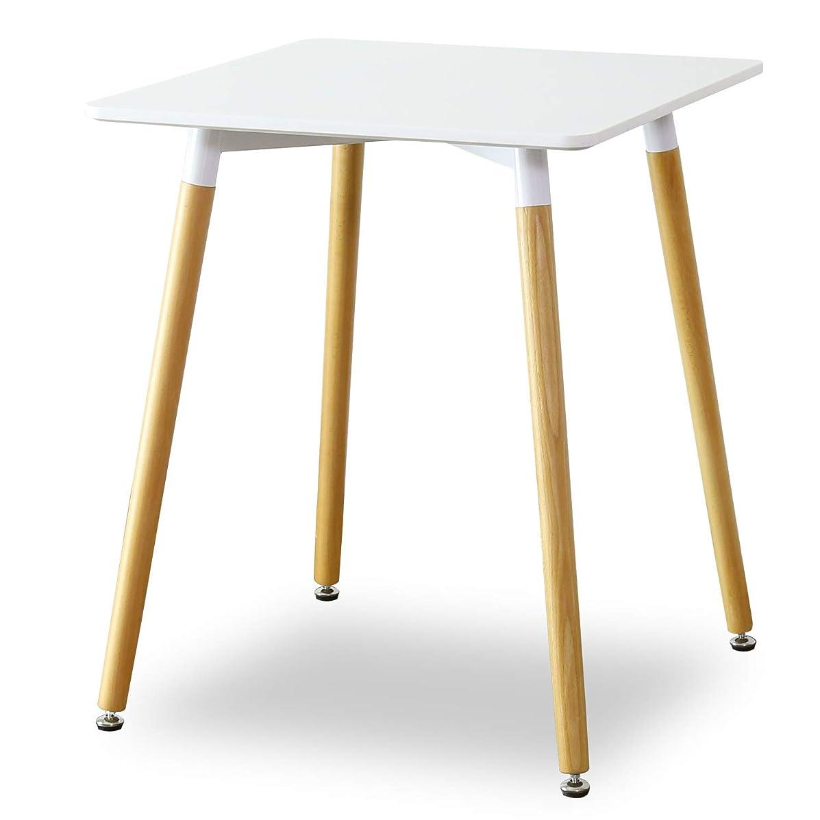 楕円形伝える前奏曲DORIS テーブル イームズ リプロダクト 2人用 コンパクト 幅60 高さ72 デザイナーズ カフェテーブル 角型テーブル ホワイト エッジ