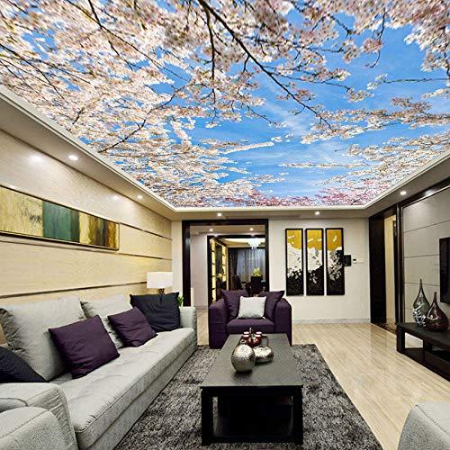 Deckentapete 3D Wohnzimmer Schlafzimmer Wald Baum Foto Himmel Tapete Wandbild @ 400 * 280cm