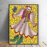 cgsmvp Yayoi Kusama Gemälde von Kleidung, Schuhe Bild Home Dekorative Kunst Druck auf Leinwand Drucke Wandmalerei/50x70cm-kein Rahmen