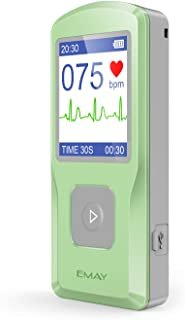 EMAY Portable EKG (PC Software Compatible With Both Windows & Mac)