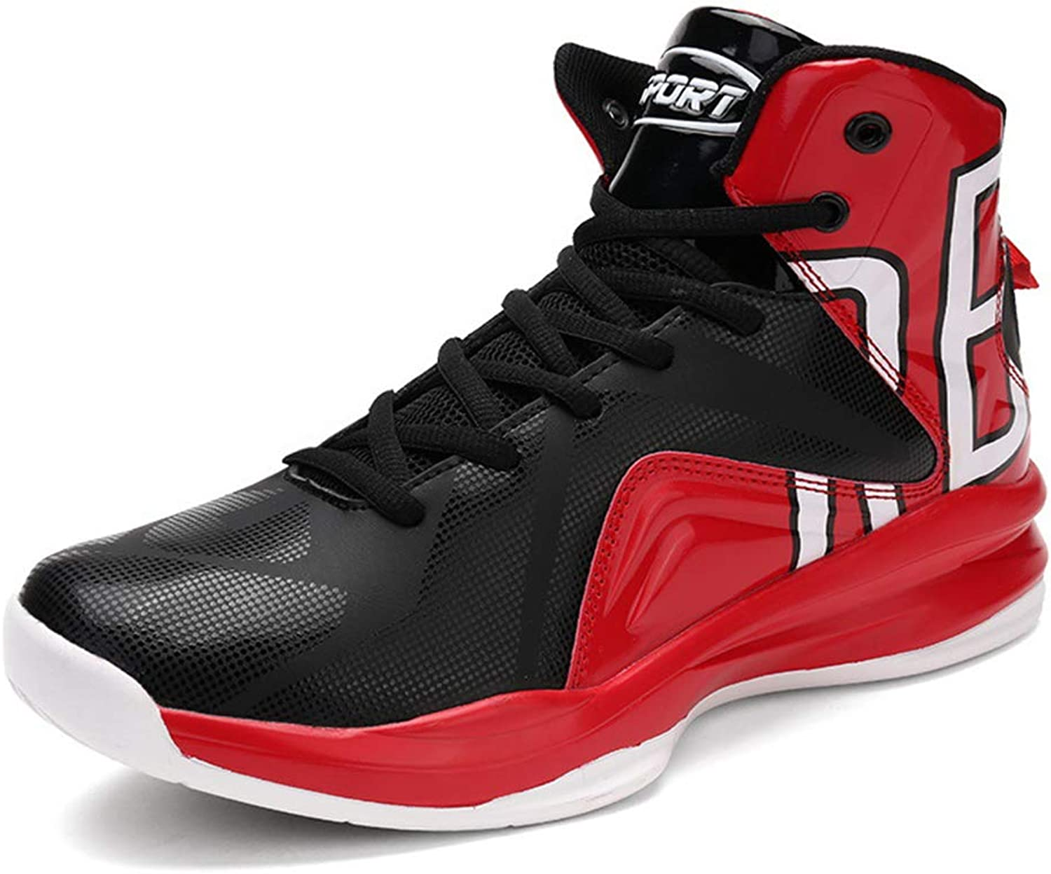 He-yanjing Men's Basketball shoes, Autumn and Winter New Sneakers Men's High-top Shock Absorber Youth Boots Large Size Student Sneakers,b,44