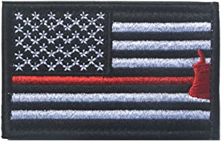 America USA US Flag Patch Embroidered Military Tactical Morale Patches Red Line-Axe