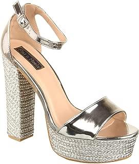 Flat n Heels Womens Silver Heel Sandals FnH 1809-6-SIL