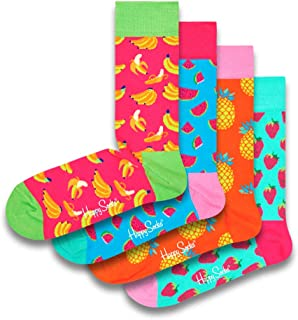 Happy Socks Colorful and Fun Stripe Gift Boxes for Men and Women Premium Cotton Socks 4 Pair size