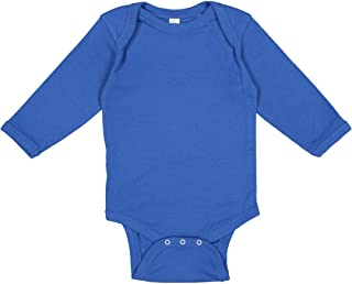 Rabbit Skins Infant Long Sleeve Lap Shoulder Creeper - 4411