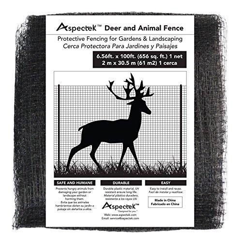 ASPECTEK Filet Protection Jardin 2 X 30m - Filet Cloture pour Protéger Jardin et Arbres des Animaux (Noir)