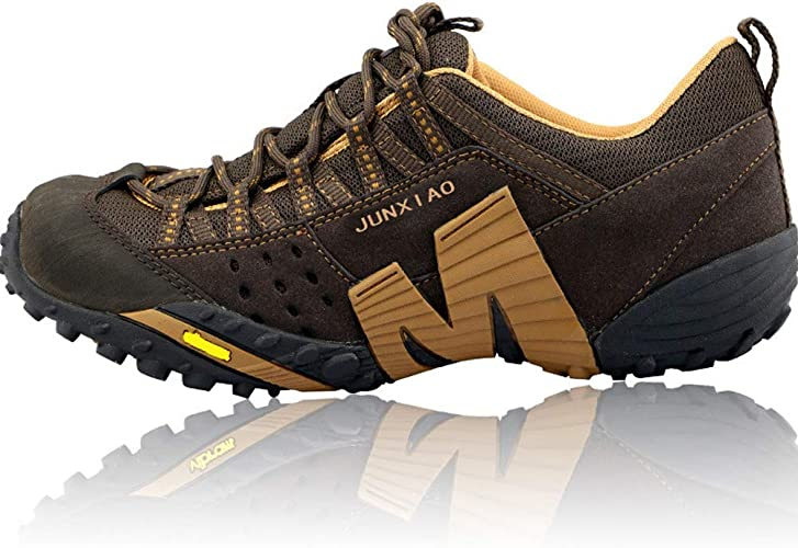 Chaussures de randonnée antidérapantes Chaussures de randonnée résistantes à l'usure Chaussures d'escalade extérieures Confortables Sports de Loisirs Chaussures de marche-marron-41