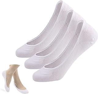 Invisible Socks Women - 3/6 Pairs No Show Socks Trainer Socks Ladies Low Socks Non Slip Ankle Bamboo Socks for Boat Shoes ...