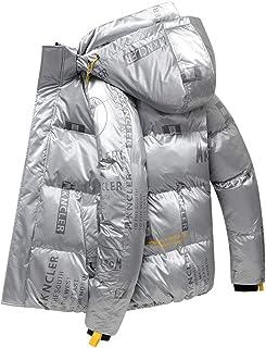 TWDYC Abbigliamento Invernale Piumino Ultraleggero con Cappuccio per Uomo Saldi Giovanili Plus Size Esterno Streetwear Piu...
