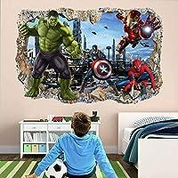 3Dウォールステッカ スーパームービーヒーローウォールアートステッカー壁画デカールスパイダーマン