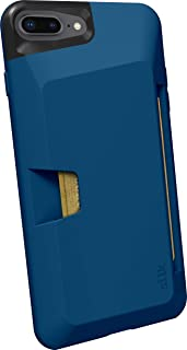 Smartish iPhone 7 Plus / 8 Plus Wallet Case - Wallet Slayer Vol.1 [Slim + Protective + Grip] Credit Card Holder for Apple iPhone 8 Plus / 7 Plus (Silk) -Blues on the Green