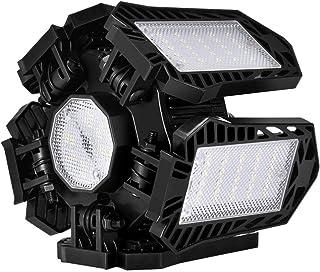 OSALADI Garage Ceiling Lights 100W Led Garage Light Living Room Ceiling Light LED Shop Light with 5 Adjustable Deformable ...