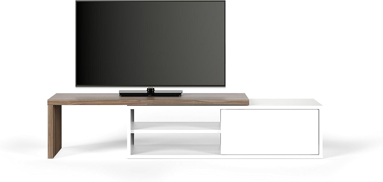 TemaHome, Move TV Tisch, 110x35x31 cm, Nussbaum Furnier wei