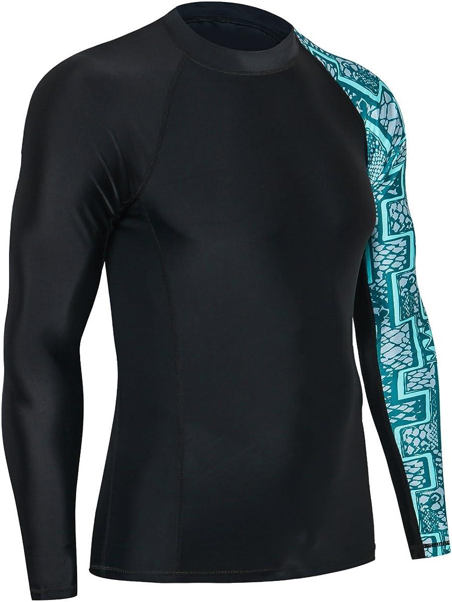 Skins Rash Guard Long Sleeves HUGE SPORTS Mens Splice UV Sun Protection UPF 50