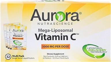 Aurora Nutrascience, Mega-Liposomal Vitamin C, 3000 mg, 32 Single-Serve Liquid Packets, 0.5 fl oz (15 ml) Each