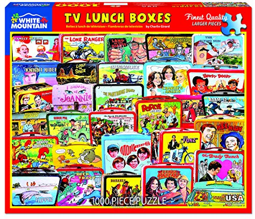 White Mountain TV Lunch Boxes - 1000 Piece Jigsaw Puzzle