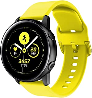 ★Auppova★ Compatible Samsung Galaxy Watch Active Bands, Soft Silicone Sports Replacement Wristband Strap Women Men Compatible for Samsung Galaxy Watch Active
