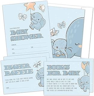 baby shower invitations elephants