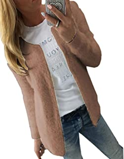 Womens Long Sleeve Oversized Cropped Cardigan Sweaters Knitted Open Coats