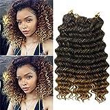 Deep Wave Crochet Braids Hair Extension 3Pieces Deep Twist Crochet Hair 10Inch Synthetic Braiding Hair (1B-27)