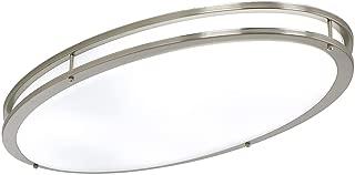 LB72133 LED Flush Mount Ceiling Lighting Oval, Antique Brushed Nickel, 32-Inch 4000K Cool White, 2800 Lumens, Energy Star