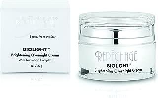 Repechage Biolight Overnight Cream Anti Aging Nightly Moisturizer with Laminaria Complex and Peptides For Uneven Skin Tone Hyperpigmentation and Dark Spots 1oz/30g