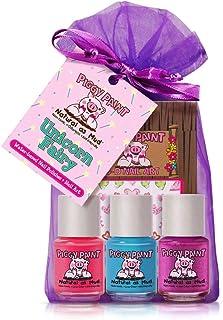 Piggy Paint - 100% Non-toxic Girls Nail Polish, Safe, Chemical Free, Low Odor for Kids - 3 Polish Gift Set (Unicorn Fairy)...
