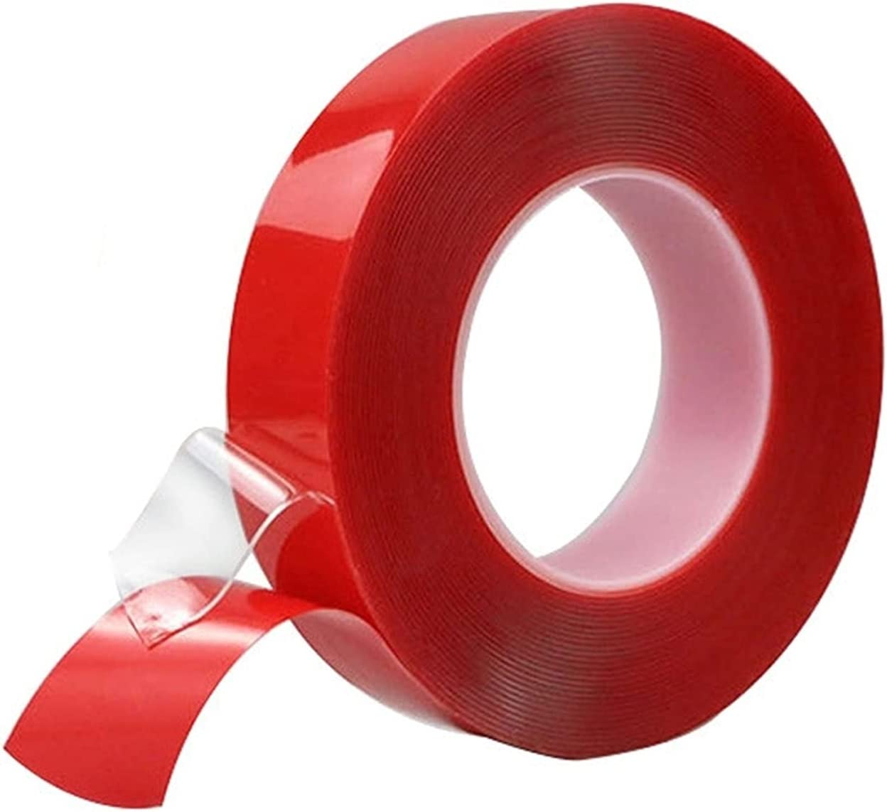 10M Red Double Max 75% OFF Faced Tape- OFFicial store Adhesive Adh Sided Transparent