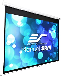 Elite Screens Manual SRM Series, 100-Inch 4:3, Slow Retract Pull Down Projection..