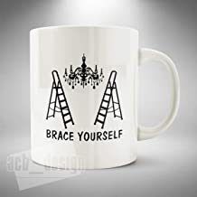 Brace Yourself Mug/Cup Coffee Tea Only Fools and Horses Inspired Chandelier