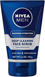 NIVEA For Men Original, Deep Cleaning Face Scrub 4.4 oz. (Pack Of 3)