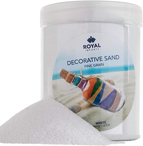 popular Royal Imports 4.5 LBS Colored new arrival Decorative Beach Sand for Vase outlet online sale Filler, Wedding, Home Décor, Crafts and Therapy Play, White sale