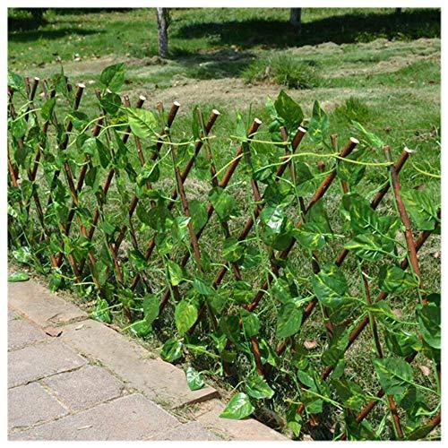 YOGANHJAT Celosia Madera Extensible Celosía de Madera Enrejado Jardín Madera Natural Enrejado...